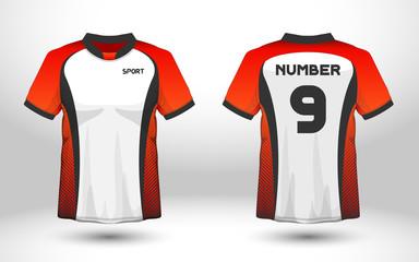 ae5ba2d1687 Layout football sport t-shirt design. Template front