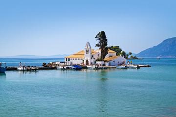 vlacherna monastery in corfu town, greece