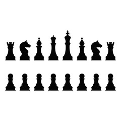 Vector Illustration Chess icons.