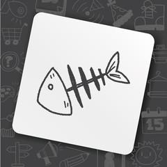doodle fish bone