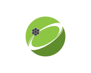 Football logo design template