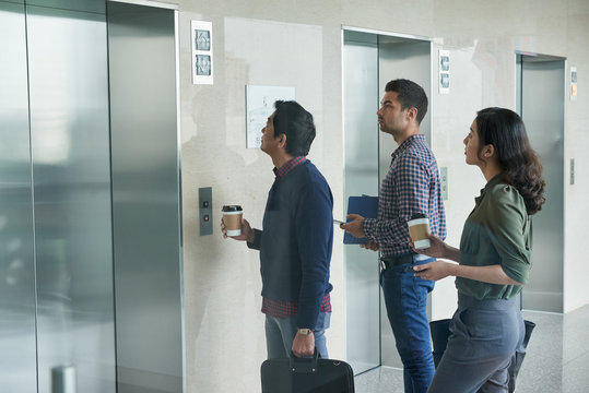 Waiting for elevator
