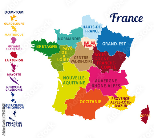 La France Map.Carte De France Avec Ses 13 Nouvelles Regions Map Of France With 13
