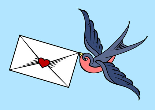 the swallow carries the letter