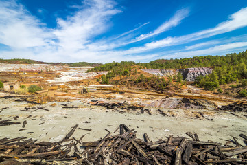 Rio Tinto kopalnia odkrywkowa w Hiszpanii