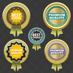 Premium quality and best choice label.