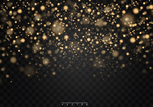 Christmas shining bokeh isolated on transparent background. Christmas concept. Vector EPS10