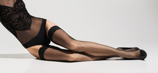 Frauenbeine in nylons