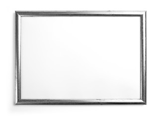 Silver frame for painting or picture on white background.
