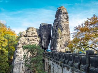 Auf der Basteibrücke, Elbsandsteingebirge