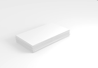 Empty business card pack on table. Mock up business card background