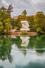L'Île du Souvenir au Parc de la Tête d'Or à Lyon