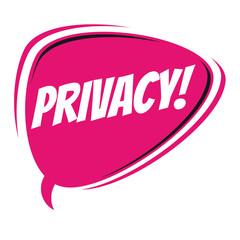 privacy retro cartoon balloon