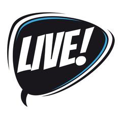 live retro speech bubble