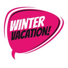 winter vacation retro cartoon balloon