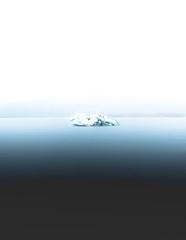 Iceberg in lagoon