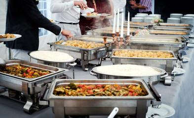 Gerichte am Buffet