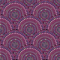 Seamless mosaic pattern with circles