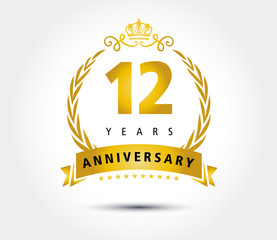 12 years anniversary royal