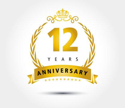 12 years anniversary royal