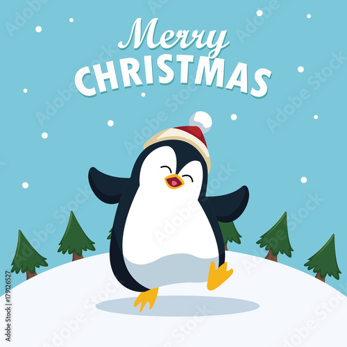 quot merry christmas cartoon icon vector illustration graphic snow vector background snow vector animation