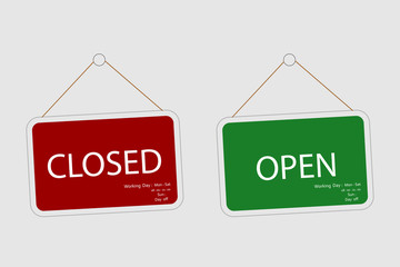 Vector Closed and Open, Store Sign
