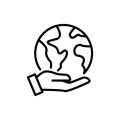 Premium globe icon or logo in line style.
