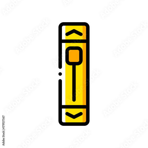 User Interface Scroll Bar Yellow Stock Image And Royalty Free