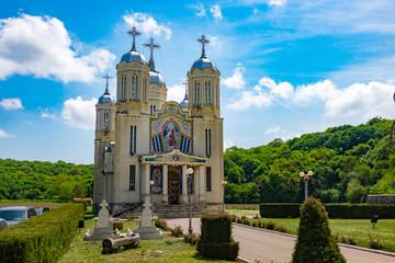Dobrogea, Constanta,Romania, Mai 2017: Saint Andrew Monastery in the souther Dobrogea