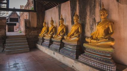 Golden buddha statue in Ayutthaya, Thailand