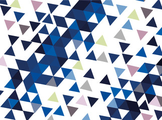 vector background with blue triangles