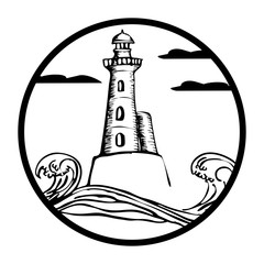 drawing lighthouse sketches