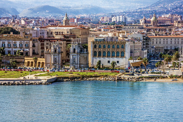 Photo sur Aluminium Palerme Palermo city seafront view, Sicily, Italy