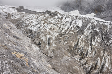 Glacier by Jade Dragon Snow Mountain, China.