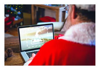 Santa with Laptop Mockup 5