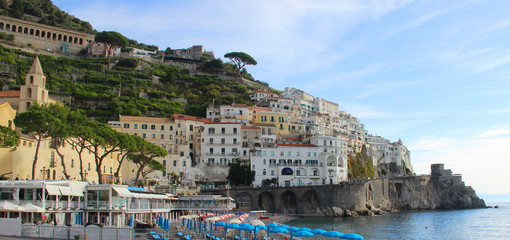 Beautiful view of Amalfi, Italy