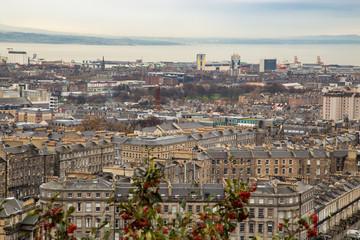 Streets and cityscape of Edinburgh, autumn in Scotland.