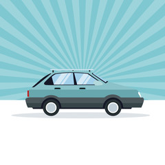 Coupe car vehicle icon vector illustration graphic