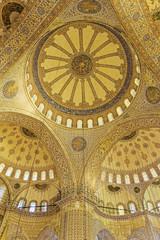 Sultanahmet mosque ceiling, Istanbul, Turkey, Europe