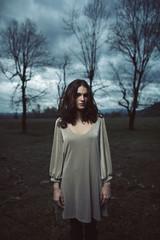 Dark Clouds Woman