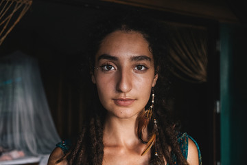 Real woman's portrait.