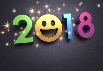 2018 Greeting card for smiling