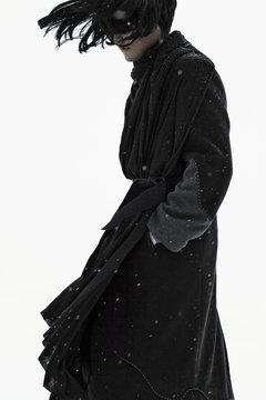 Unrecognizable person in black clothes