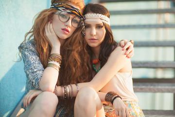 Modern hippies portrait