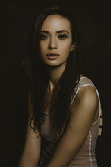 Portrait of a sensual woman.
