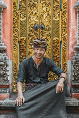 Balinese Young Man in Traditional Clothing