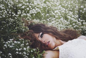 Beautiful girl in nature