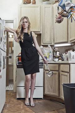 Woman in a Little Black Dress
