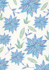 Painting floral seamless pattern.