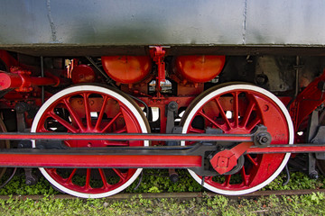 Details of the old rusty locomotive